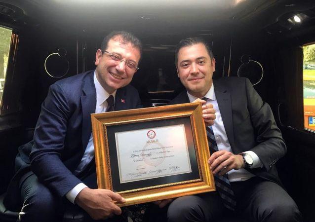 İstanbul Büyükşehir Belediye Başkanı Ekrem İmamoğlu mazbatasını aldı