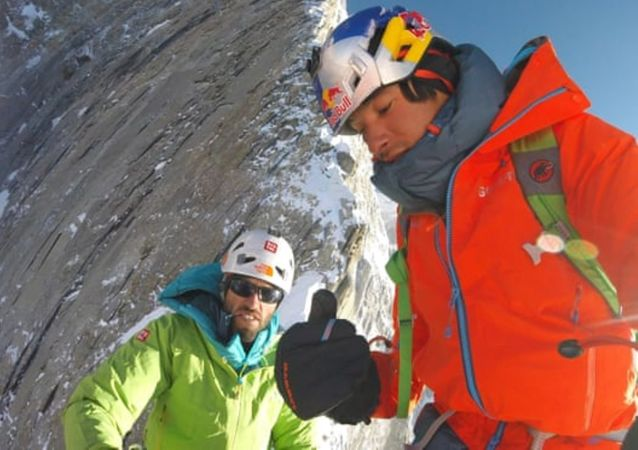 David Lama, Hansjorg Auer ve Jess Roskelly