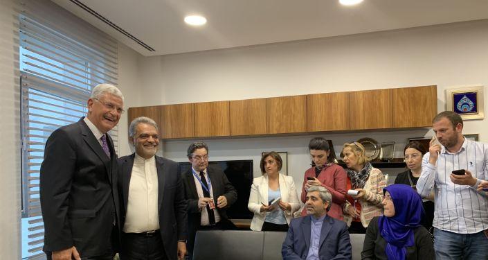 TBMM Dışişleri Komisyonu Başkanı Volkan Bozkır, İran Ankara Büyükelçisi Mohammad Farazmand