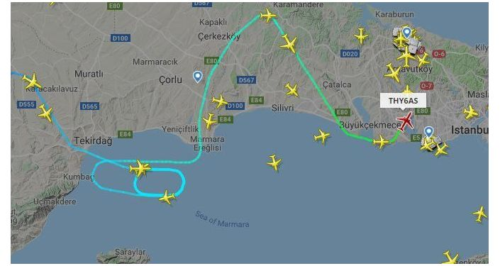 Hava trafiğindeki yoğunluk radar takip sistemine de yansıdı