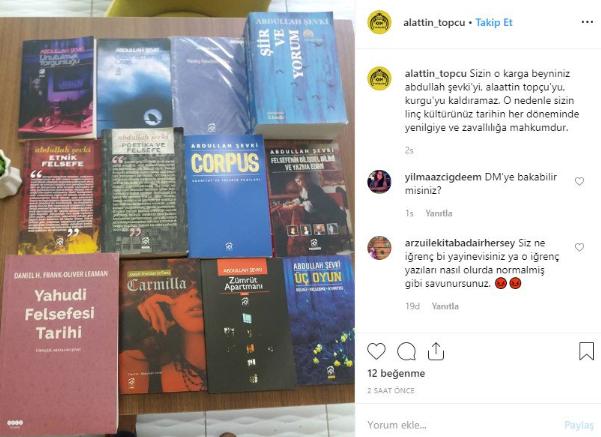 Topçu'nun Instagram paylaşımı