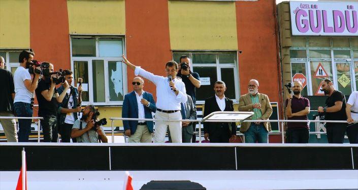 CHP İstanbul Büyükşehir Belediye Başkan Adayı Ekrem İmamoğlu, seçim çalışmaları kapsamında gittiği Arnavutköy'de halka seslendi.