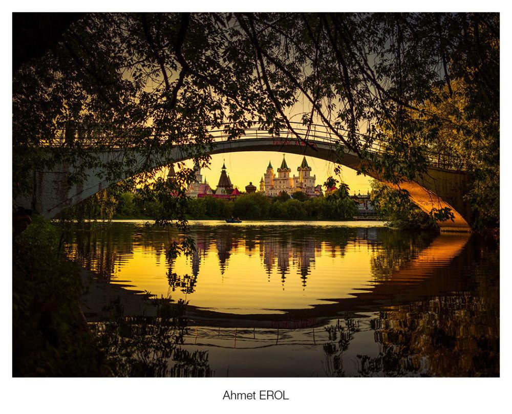 Ahmet Erol'un görüntülediği büyüleyici Moskova günbatımı.