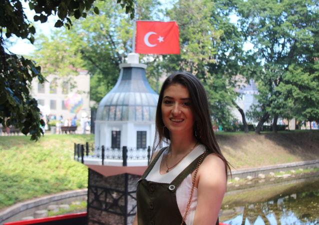 Moskova'daki Türkiye festivali ziyaretçi Yekaterina