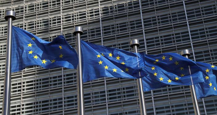 Avrupa Komisyonu'nda Avrupa Birliği (AB) bayrakları