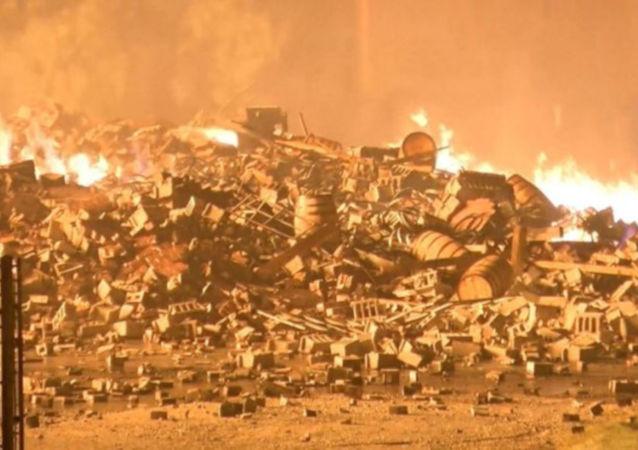 ABD'de 45 bin varil viskinin bulunduğu depoda yangın