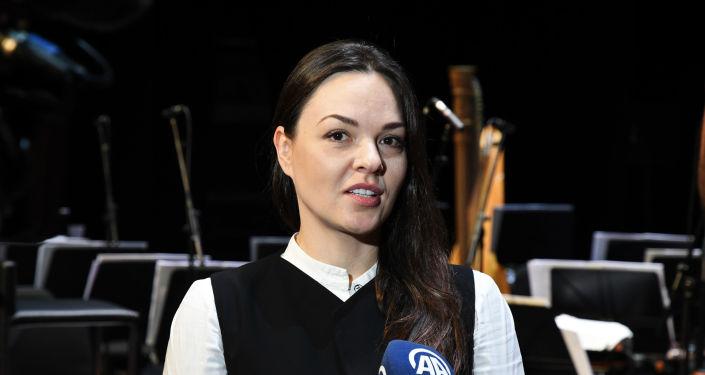 Bolşoy Tiyatrosu Solistleri gala provasında Anna Nechaeva