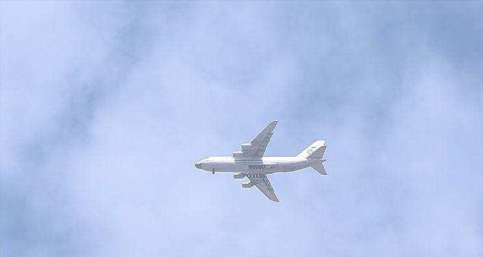 S-400 Uzun Menzilli Bölge Hava ve Füze Savunma Sistemi'ne ait malzemelerin sevkiyatı kapsamında, yedinci uçak Mürted Hava Meydanı'na indi.