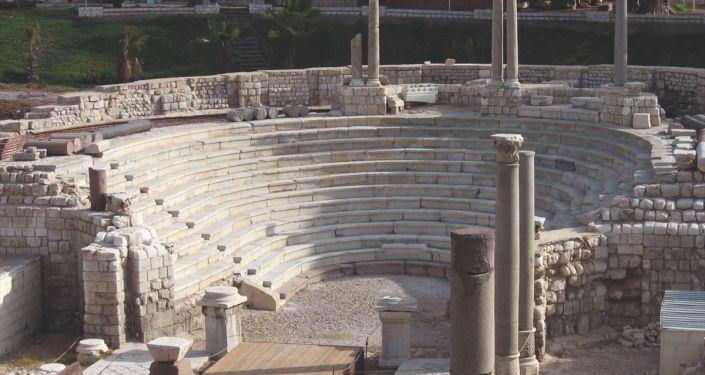 Mısır'ın İskenderiye şehrinde Roma dönemine ait antik bir kentin kalıntıları bulundu.