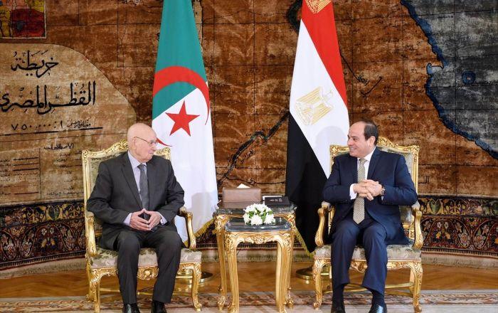 Cezayir geçici Cumhurbaşkanı, Sisi ile görüştü