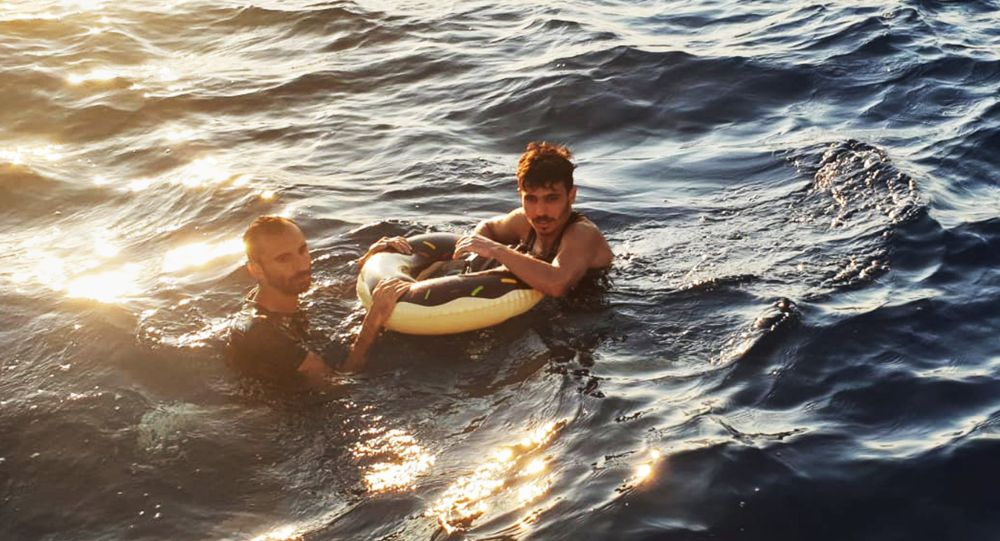 Yüzerek Yunanistan'a ulaşmaya çalışan 2 sığınmacı yakalandı