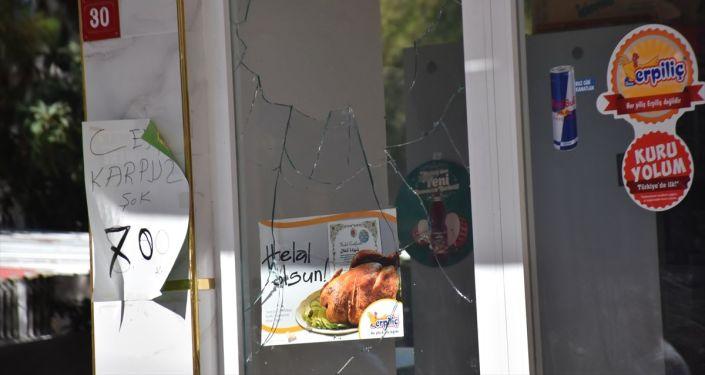 Adıyaman'da 13 yaşındaki çocuğu öldürdüğünü itiraf eden zanlının iş yeri taşlandı