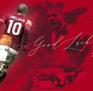 Galatasaray'dan futbolu bırakan Wesley Sneijder'e teşekkür