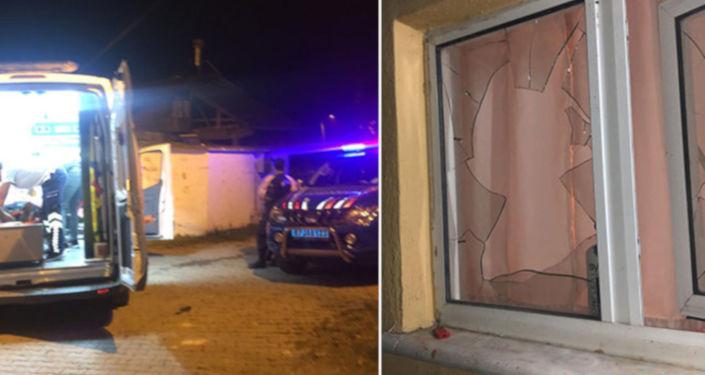 Kız tarafı olumsuz cevap verip çiçeği pencereden atınca kavga çıktı: 4 yaralı
