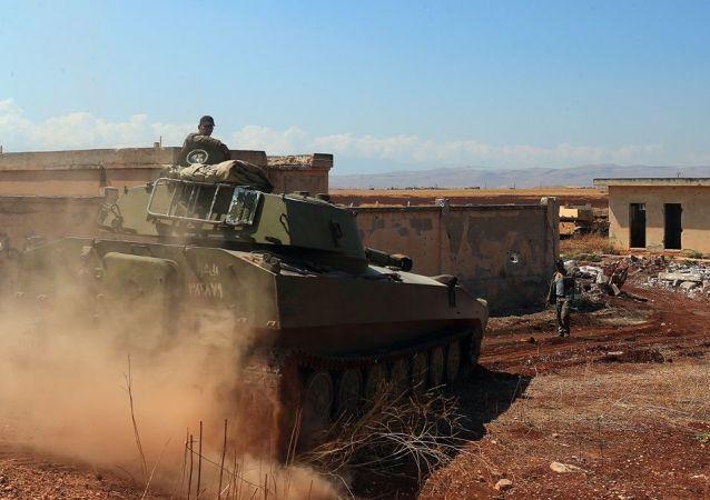 Suriye ordusu - Han Şeyhun - İdlib