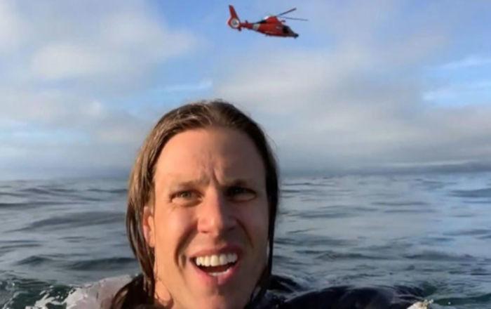 Uçakları düştü, okyanustan bir helikopter ile kurtarıldılar