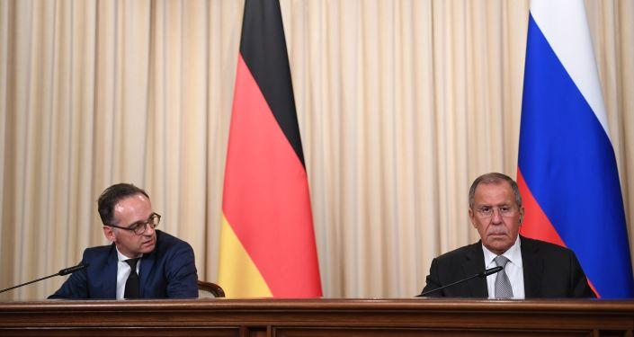 Rusya Dışişleri Bakanı Sergey Lavrov ile Almanya Dışişleri Bakanı Heiko Maas