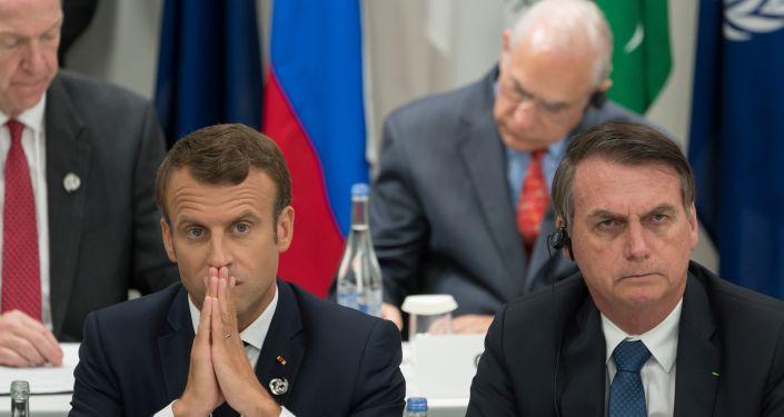 Brezilya Devlet Başkanı Jair Bolsonaro ve Fransa Cumhurbaşkanı Emmanuel Macron