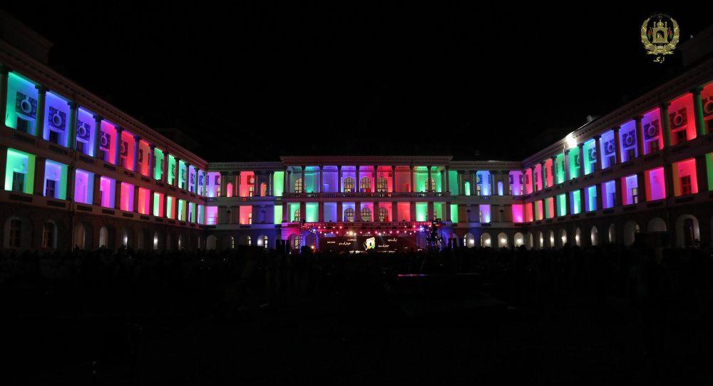 Afganistan'da restorasyonu tamamlanan Darul Aman Sarayı'nın açılış töreni
