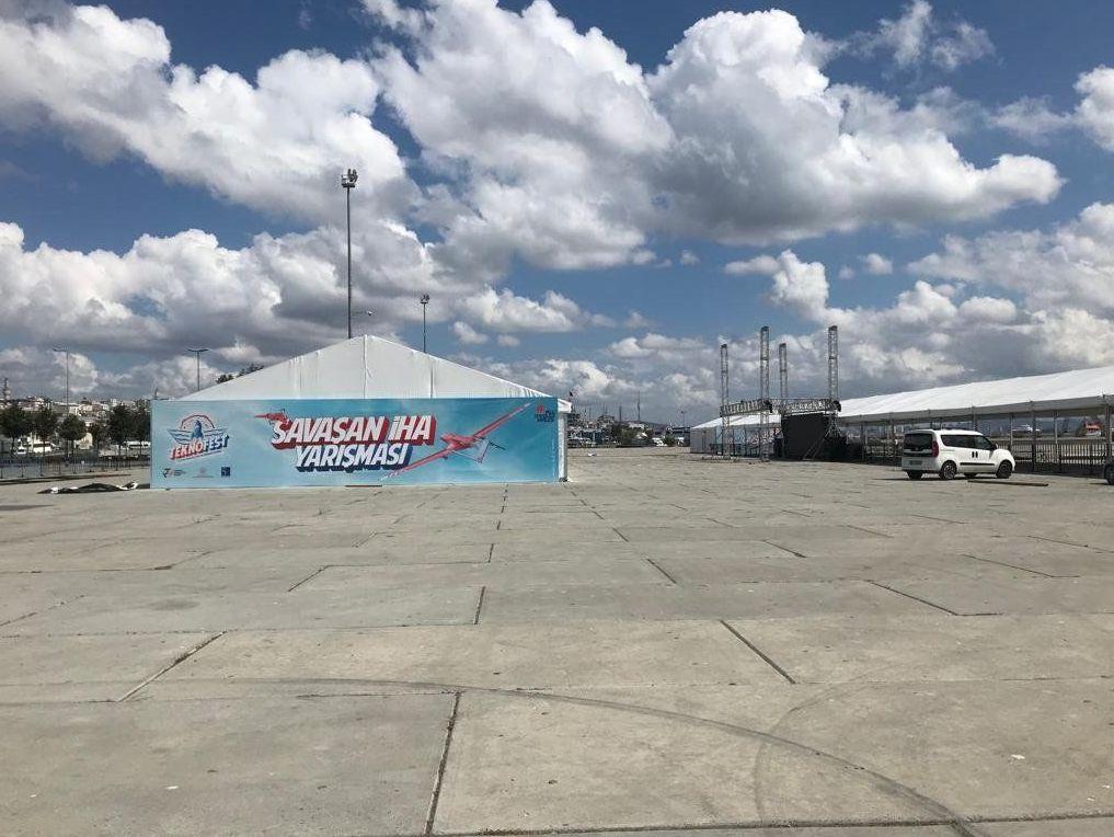 Yenikapı miting alanına konulan Teknofest çadırı