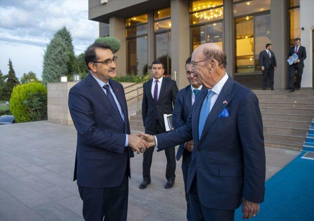 Bakan Dönmez ile ABD Ticaret Bakanı Ross