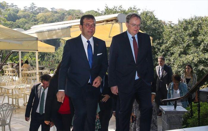 İBB Başkanı İmamoğlu ile görüşen AB Türkiye Delegasyonu Başkanı Berger: İstanbul'da 2 milyar euro'luk ek masraf var