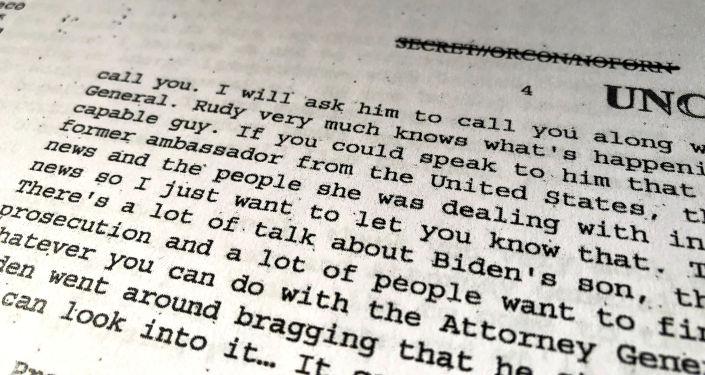 Trump-Zelenskiy telefon görüşmesinin dökümü, Biden'la ilgili bölüm
