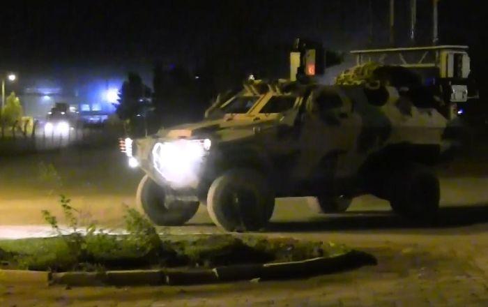 TSK tarafından Suriye sınırına gönderilen askeri sevkiyat böyle görüntülendi