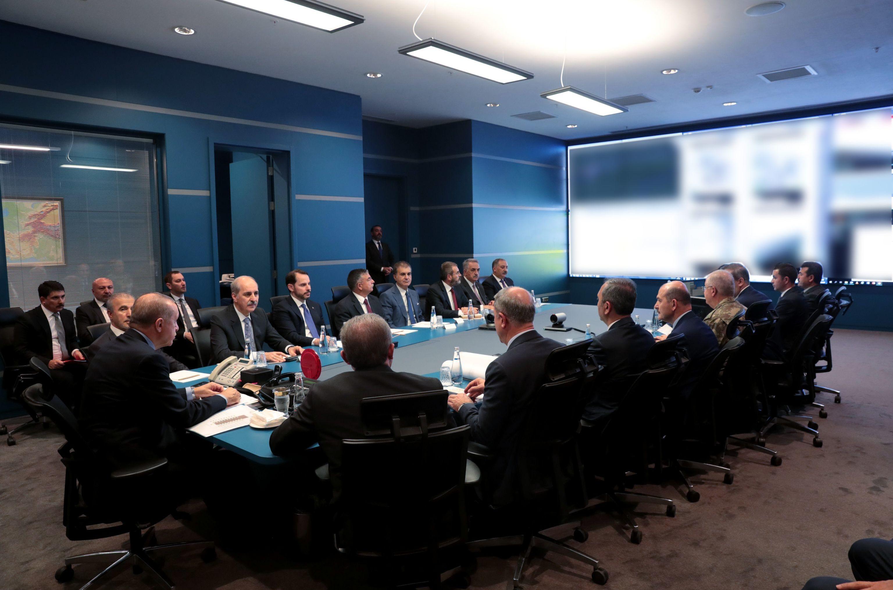 Cumhurbaşkanı Recep Tayyip Erdoğan başkanlığında yapılan Barış Pınarı Harekatı Koordinasyon Toplantısı sona erdi.