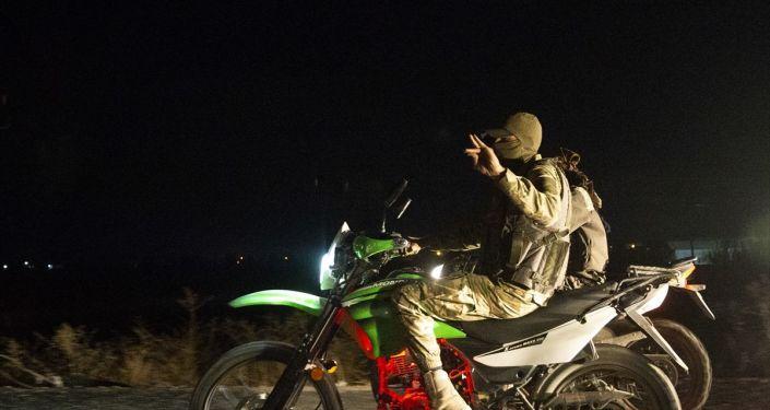Akçakale'de konuşlu Suriye Milli Ordusu (SMO) mensupları
