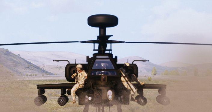 İngiliz deniz piyadeleri Afganistan'da Apache Longbow helikopterleriyle operasyonda