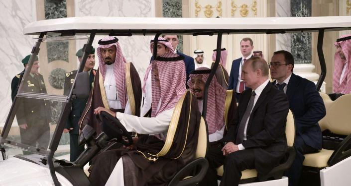 Suudi Arabistan Kralı Selman bin Abdulaziz ile Rusya Devlet Başkanı Vladimir Putin