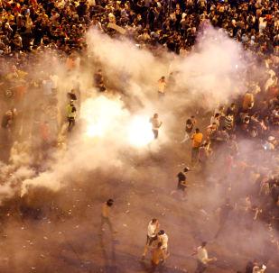 Lübnan'ın başkenti Beyrut'ta protestolar