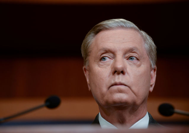 Sen. Lindsey Graham (R-SC) announces a bipartisan agreement on Turkey sanctions during a news conference on Capitol Hill in Washington, U.S., October 17, 2019. REUTERS/Erin Scott