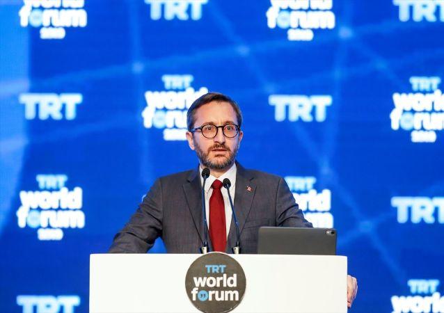 İletişim Başkanı Fahrettin Altun, İstanbul Kongre Merkezi'nde Küreselleşmenin Krizi: Riskler ve Fırsatlar temasıyla düzenlenen TRT World Forum 2019'un açılışında konuşma yaptı.
