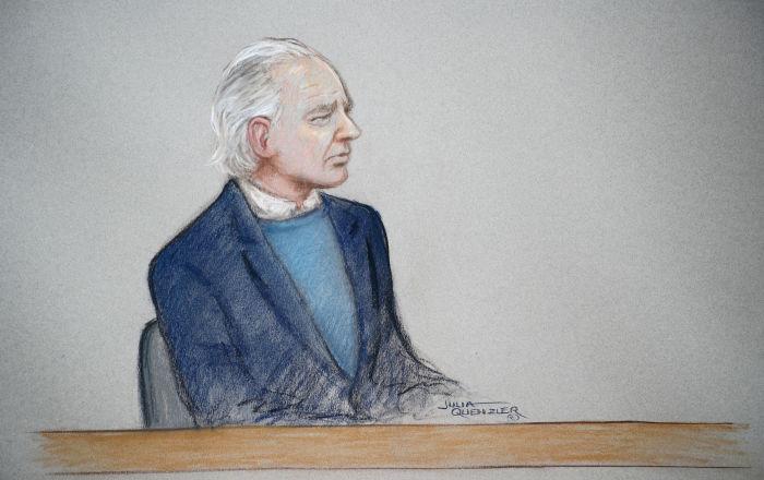 Assange'ın cezaevi aracından çekilmiş son görüntüsü yayınlandı
