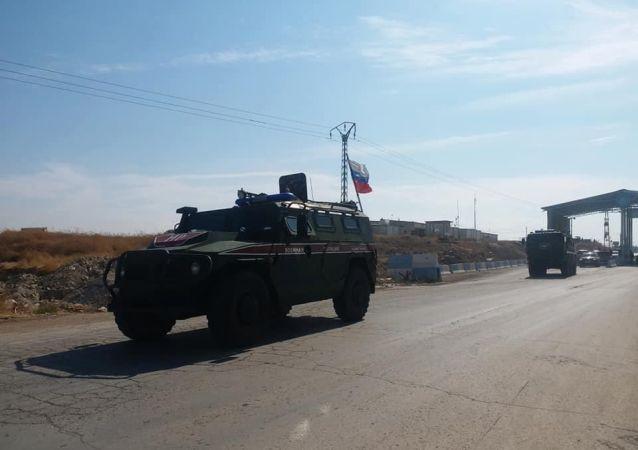 Kobani'de Rus askeri polis