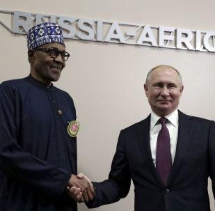Nijerya Devlet Başkanı Muhammed Buhari ve Rusya Devlet Başkanı Vladimir Putin