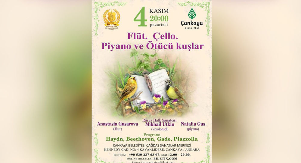 'Flüt, Çello, Piyano ve Ötücü Kuşlar Festivali'