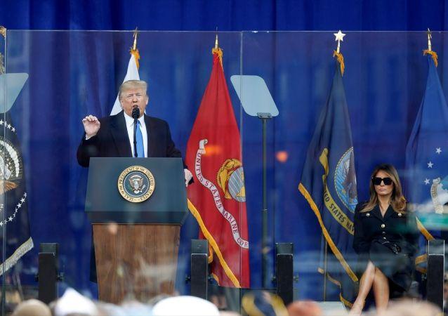 ABD Başkanı Donald Trump, Gaziler Günü nedeniyle New York'ta düzenlenen anma törenine katıldı.