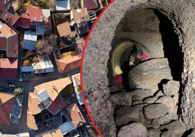 Kayseri'de bin 300 metre uzunluğunda yeraltı şehri bulundu