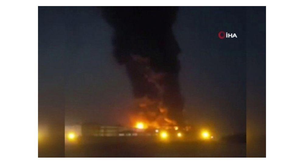 Tahran'da gıda fabrikasında yangın