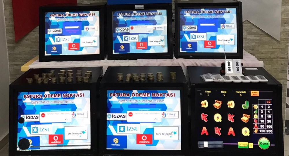 Polise yakalanmamak için özel kumar makinesi yaptılar: Uzaktan kumanda ile fatura ödeme ekranına dönüyor