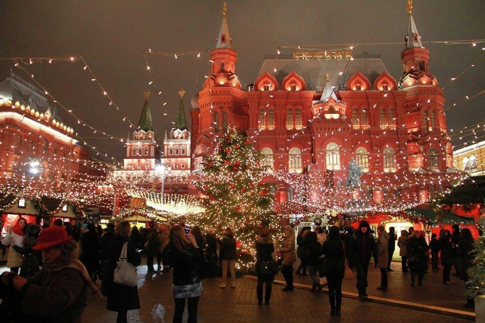 Moskova'da Yılbaşı hazırlıkları