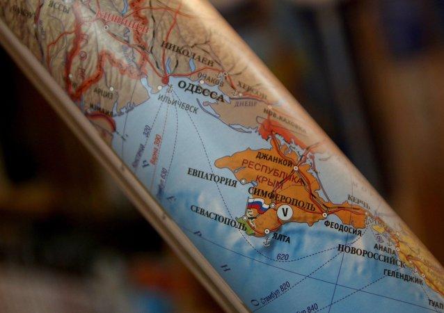 Kırımı'ı Rusya'nın bölgesi olarak gösteren harita