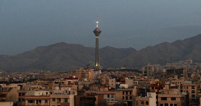 İran. Tahran manzarası.