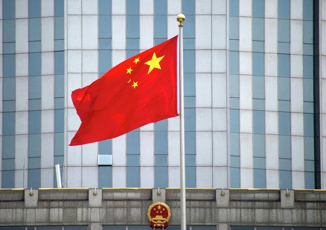 Şangay'daki Çin bayrağı