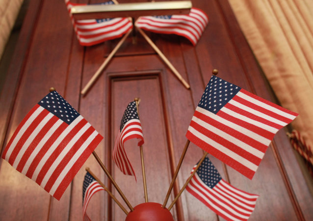 ABD bayraklar. Büyükelçilik'te