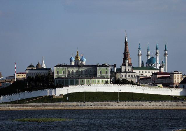Kazan manzarası. Kazan kremlin