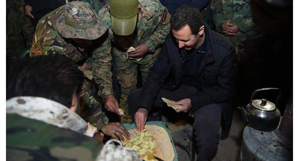 Suriye Devlet Başkanı Beşar Esad, cephede